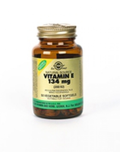 Vitamin E 134 mg / 200 IU Vegan Vegetable softgels 50 Solgar