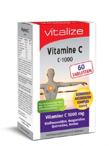 Vitamine C 1000 60 tabletten Vitalize
