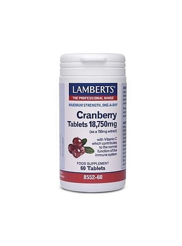 Cranberry 18,750mg 60 tabletten Lamberts