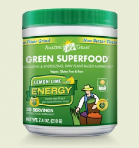Enegy lemon lime green superfood Amazing Grass