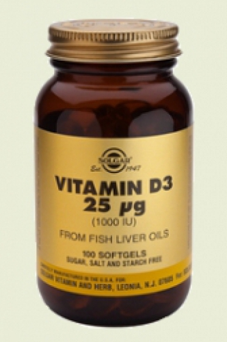 Vitamine D3 1000ie softgels solgar