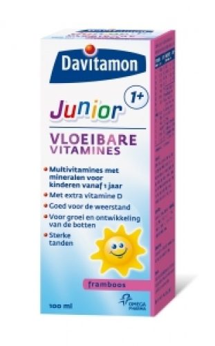 Junior 1+ liquid vitamins 100ml davitamon