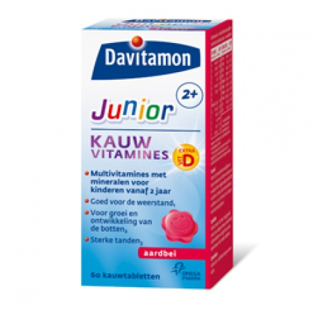 Junior 2+ Strawberry chewable tablets Davitamon