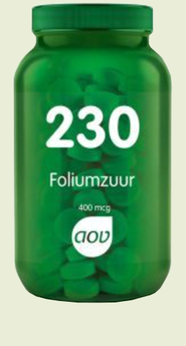 230 Acide folique 400 mcg 60 tabl. AOV