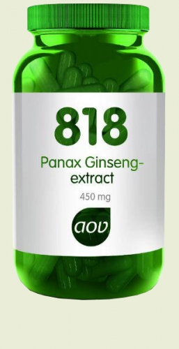 818 Panax Ginseng Extrait 450mg 180 capsules AOV