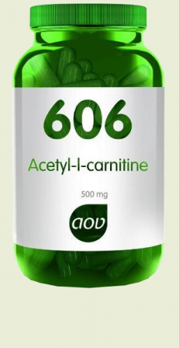 606 Acetyl-l-carnitine 500 mg 90 v capsules AOV