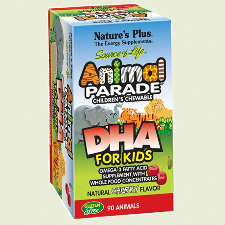 Animal Parade Omega 3 Dha for Kids 90caps Nature's Plus