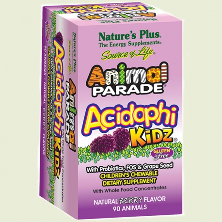 Animal Parade Acidophi Kidz 90caps Nature's Plus