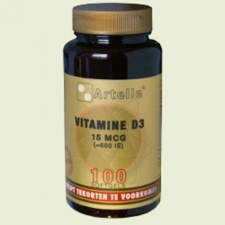 Vitamine D3 15mcg 600ie Artelle