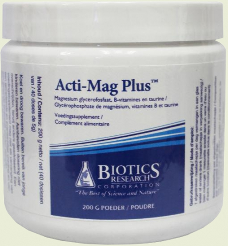 Acti Mag plus 200 grams of Biotics