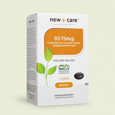 Vitamin D3 75mcg 100 capsules New Care