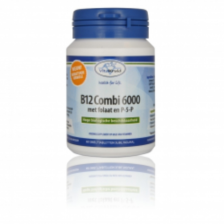 B12 6000mcg combination with folate & P5P 60 tablets Vita Herbs