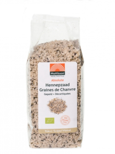 Absolute écossés organique de graines de chanvre 250g Raw Mattisson