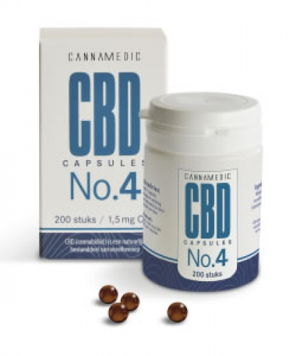 Hemp Oil capsules no.4 100 capsules Cannamedic CBD