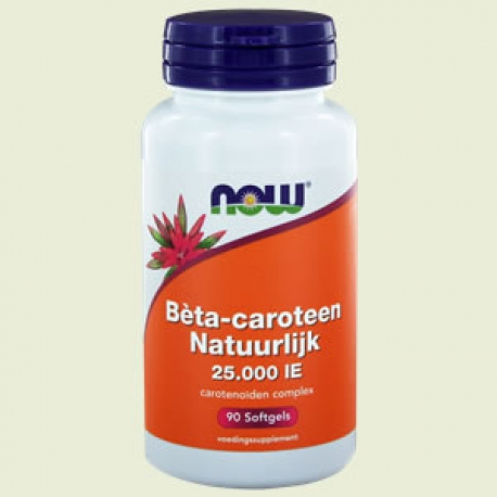 Bêta-carotène naturel 90 gélules NOW