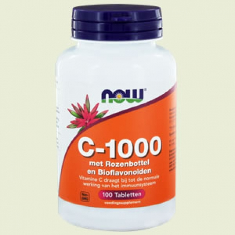 Vitamin C 1000mg rose hips 100tab NOW
