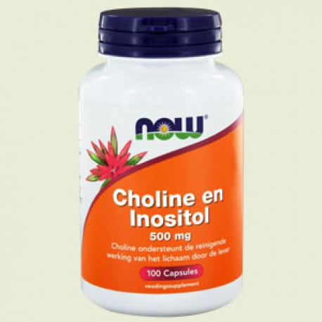Choline / inositol 500mg 100 capsules NOW