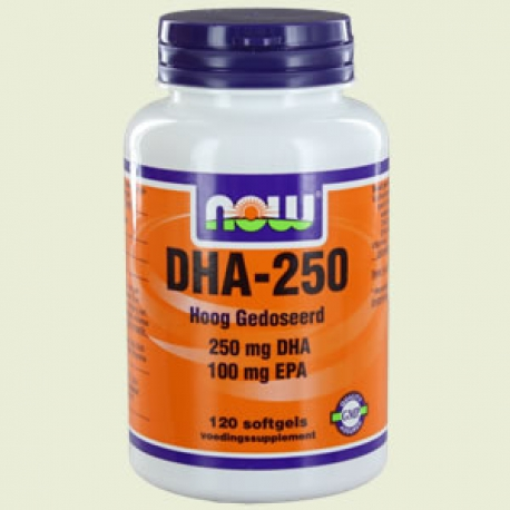DHA 250 120 Softgels NOW