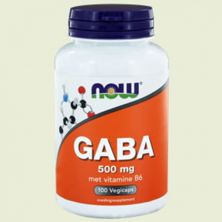 GABA 500mg 100 capsules NOW