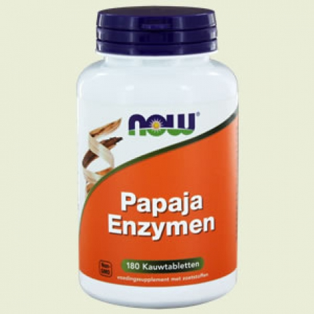 Papaya enzyme chewable 180kt NOW