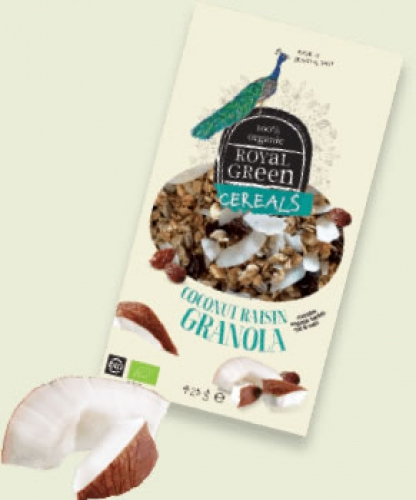 Cereals coconut raisin granola Royal Green