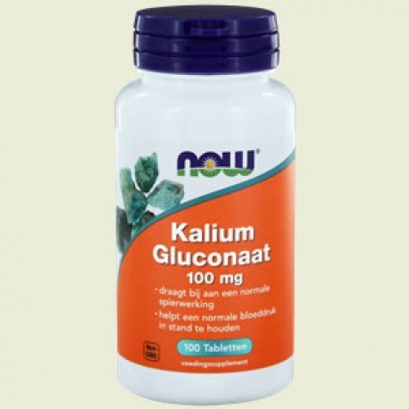 Kalium gluconaat (potassium) 99mg 100 tabletten NOW