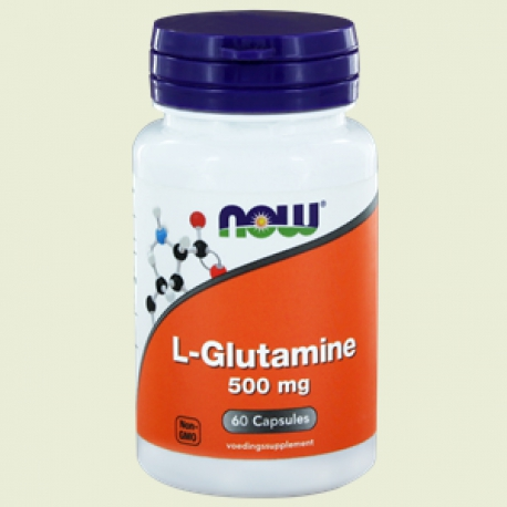 L Glutamine 500mg 60 capsules NOW