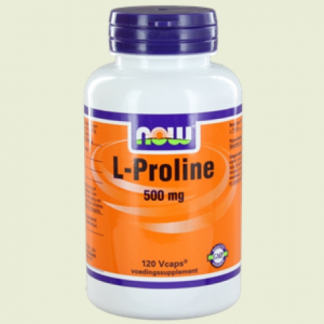 L Proline 500mg 120 caps vegi NOW