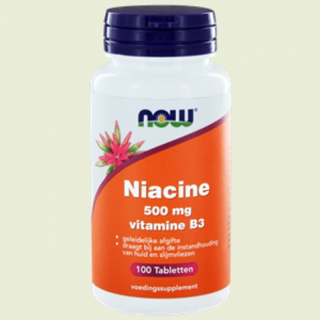 Niacin 500mg SR 100 tabletten NOW
