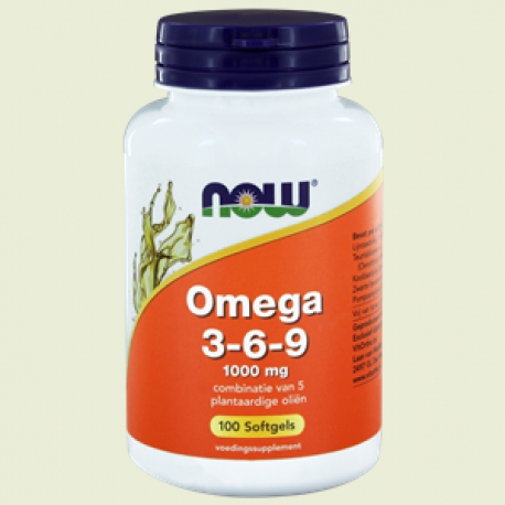 Omega 3-6-9- 1000mg 100sft NOW