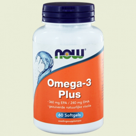 Omega-3-plus (hoch war EPA / DHA) 60 Softgels NOW