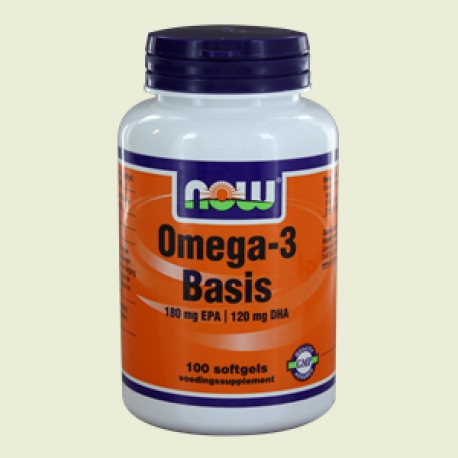 Omega-3 Basic 180 mg EPA 120 mg DHA 100sft NOW
