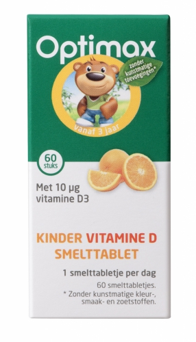 Kinder natuurlijke vitamine D 60 smelt-tabletten Optimax