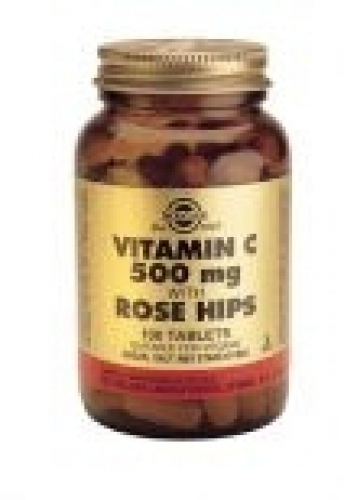 Vitamin C with Rose Hips 500 mg tabletten 100 Solgar