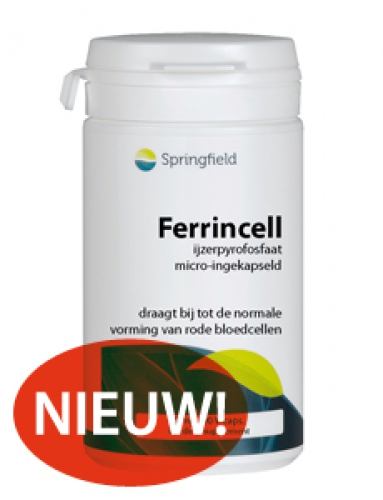 Ferrincell 44mg - ijzer pyrofosfaat 5mg 90 vcaps Springfield