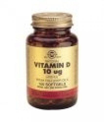 Vitamin D-3 10 micrograms / 400 IU 100 softgels Solgar