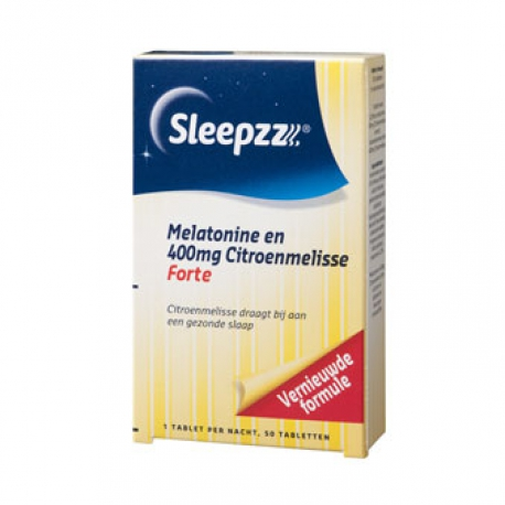 Melatonin 400mg and lemon balm Forte 50 tablets Sleepzz