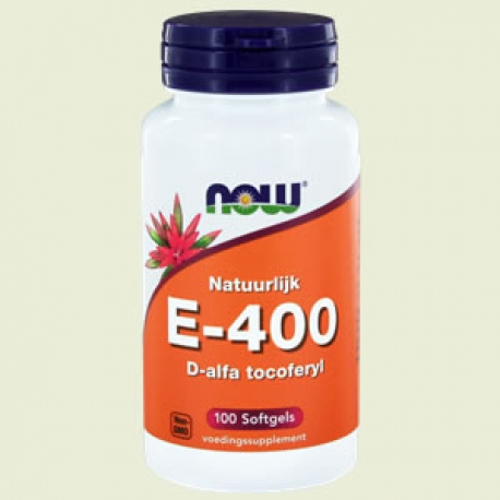 Vitamine E 400IU D alpha tocopheryl 100 softgels NOW