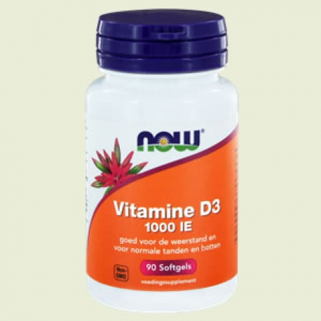 Vitamine D3 1000ie softgels NOW