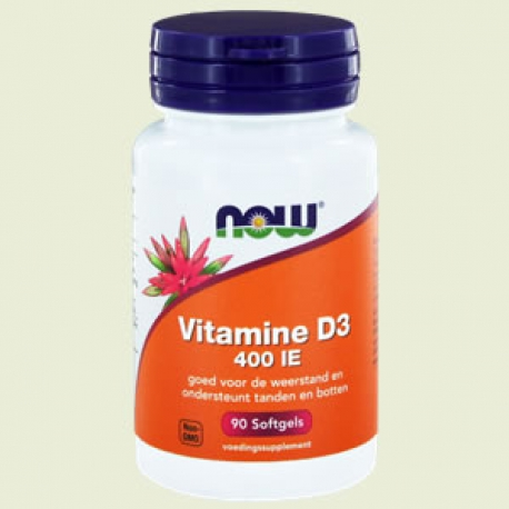 Vitamine D-3 400IE 90sft NOW
