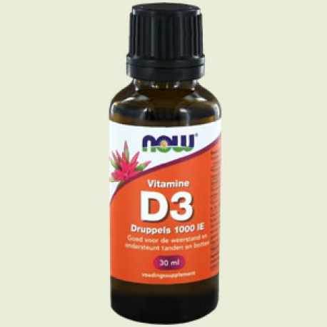 Vitamine D-3 1000 ie druppels 30ml NOW