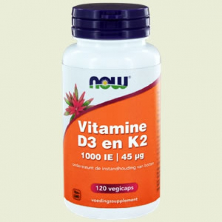 Vitamin D-3 1000IE & Vitamin K2 120 softgels NOW