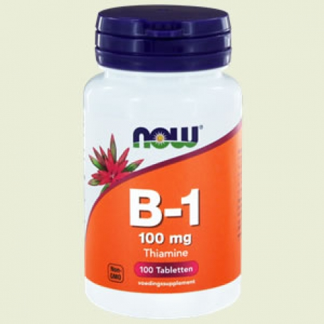 Vitamine B-1 100mg 100 tabletten NOW