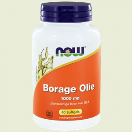 Borage Oil 1000mg 60 softgels NOW