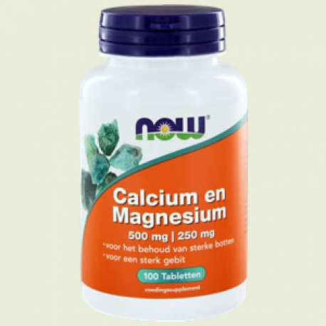 Calcium Magnesium 500/250mg 100 tabletten NOW