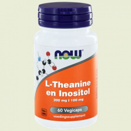 L-théanine 200mg + inositol 90 vegi-caps NOW