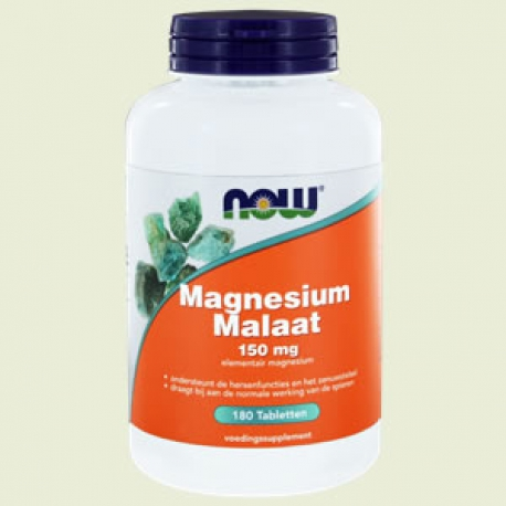 Magnesium Malaat 150 mg 180Tabletten NOW