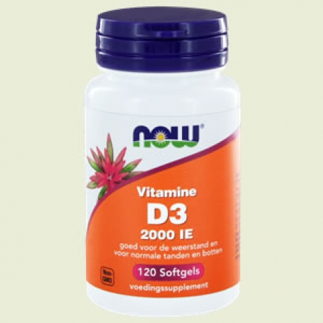 Vitamine D3 2000ie softgels NOW