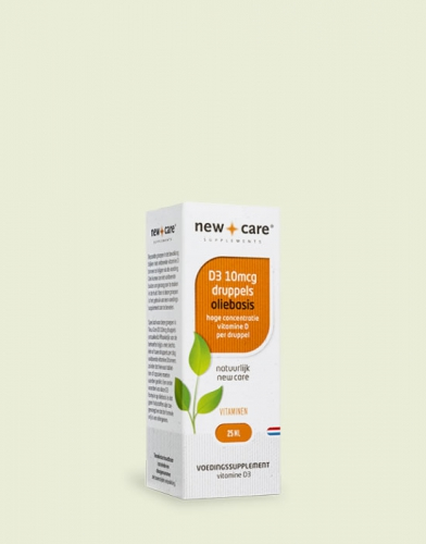 Vitamine D3 10mcg / 400ie druppels (olie basis) New Care