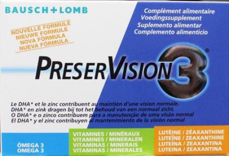 Preservision 3 nieuwe formule 60caps Bausch & Lomb